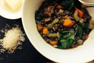 Dee Dee's Lentil Soup with Italian Sausage