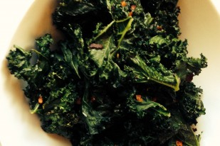 Spicy Salty Kale Chips