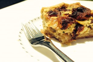 Guanciale, Herb, and Onion Quiche