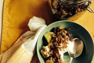 Amaranth Granola + Pineapple Yogurt Parfaits