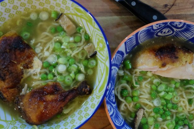 weeknight rotisserie chicken ramen